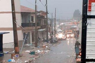 """Tornado, lluvias torrenciales y granizo afectaron al """"alto Uruguay"""", en el estado de Santa Catarina"""