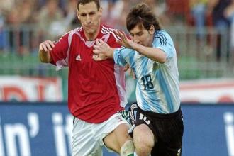 Con técnico entrerriano, el recuerdo del insólito debut de Messi en la Selección Mayor