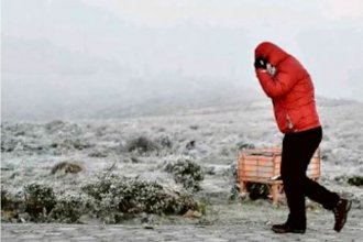 La nieve no cayó en Entre Ríos pero sí en las nacientes del Río Uruguay