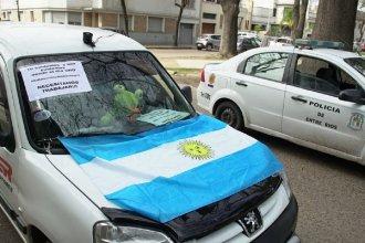Rebotó en medios nacionales la noticia sobre el vehículo municipal que bloqueó una marcha de comerciantes en Entre Ríos