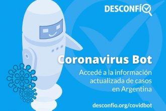 Lanzan un Chatbot con las cifras de coronavirus de la provincia