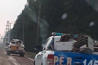 Forestación y quinta fueron allanadas para recuperar material apícola robado hace 2 meses