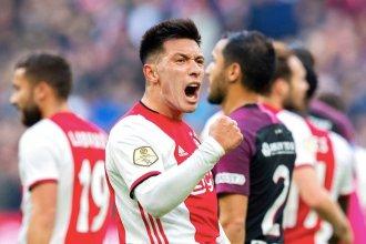 Con tanto entrerriano, Ajax goleó y sigue puntero