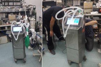 Empresa argentina que creó un respirador económico donó uno al Hospital Masvernat
