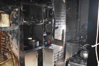 Un voraz incendió afectó a dos viviendas en Chajarí: hubo pérdidas totales