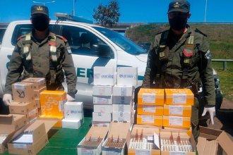 Gendarmería secuestró gran cantidad de medicamentos durante un control sobre RN 14
