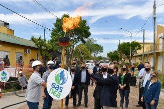 Bordet inauguró la red de gas natural de Caseros, que beneficiará a más de 1000 familias