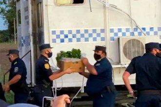 La policía de Entre Ríos ayudó a ingresar alimentos al campo de los Etchevehere
