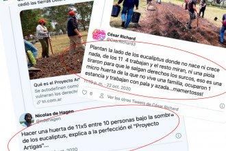 """Críticas a la huerta de Proyecto Artigas: """"Grabois habla de seguridad alimentaria y no tiene la menor idea"""""""