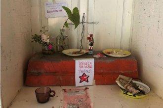 """Altar al """"Gauchito Gil"""" y roturas: Cómo quedó Casa Nueva, tras la ocupación y posterior desalojo"""