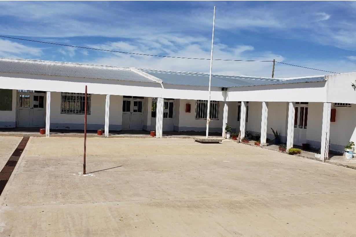 La secundaria Palmas de Yatay, en Raíces Oeste.