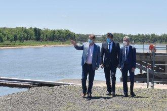 Bordet, junto a Massa y Meoni, firmó convenios para obras portuarias por 250 millones de pesos