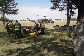 Por tierra y aire, continúan combatiendo los incendios en el Delta entrerriano