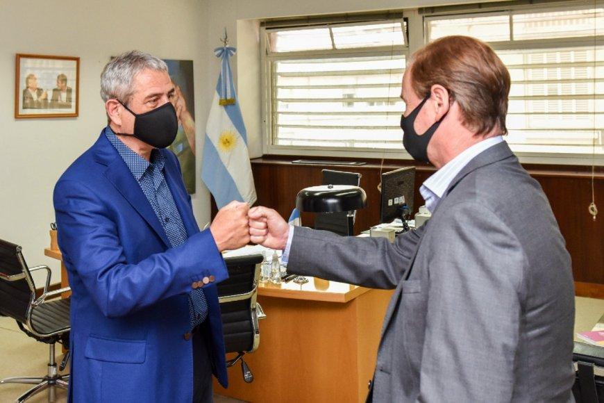 Jorge Ferraresi recibió al gobernador Bordet.