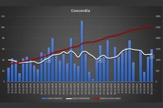 Análisis estadístico de Concordia, tras un mes como zona de transmisión comunitaria sostenida