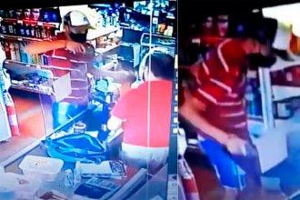 Revólver en mano, asaltaron un kiosco: Se llevaron el monitor de la compu, Fernet y cigarrillos