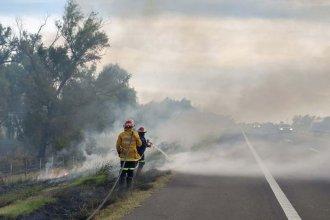 Un incendio en el sur entrerriano afectó la circulación en ruta 12