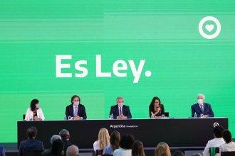 En un acto encabezado por Fernández, fue promulgada la ley de interrupción voluntaria del embarazo