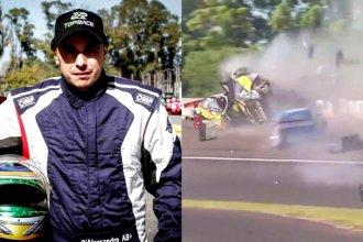 """El mensaje de """"El Dipy"""", tras protagonizar un grave accidente en prueba automovilística en Entre Ríos"""