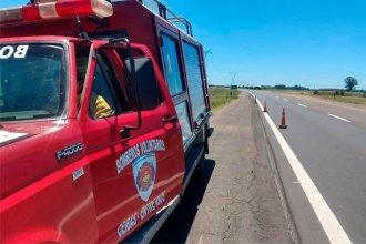 Un bombero le salvó la vida a una beba de 7 meses que se ahogaba en la ruta 12