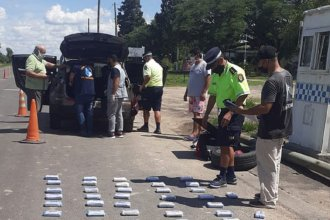 Efectivo de la Policía Federal fue interceptado en Entre Ríos con millonario contrabando