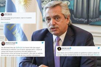 Retenciones o cupos a la exportación: Reacción de legisladores entrerrianos a los dichos del presidente