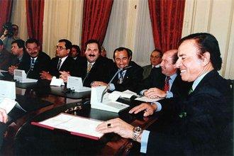 El día en que Menem torció el poder en Entre Ríos