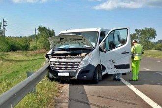 Accidente sobre la autovía Artigas terminó con tres heridos: una mujer sufrió fractura de cráneo