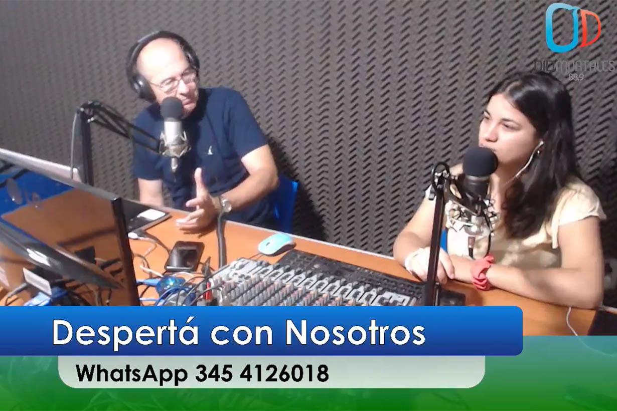 Osvaldo Bodean y Belén Fedullo en la radio