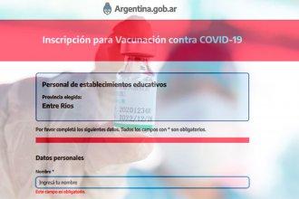 Ahora los docentes pueden registrarse para recibir la vacuna: El formulario