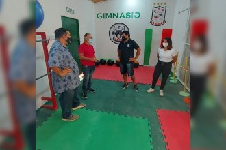 Con aportes de Salto Grande, culminaron la construcción del nuevo gimnasio del Club La Bianca