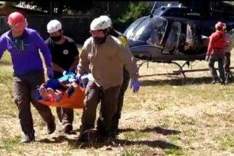 Entrerriano que sufrió un accidente en el volcán Lanín fue trasladado a Buenos Aires