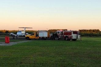 Fuego en el aire: debió aterrizar de emergencia en el aeródromo de Concordia