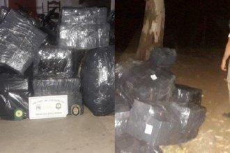 Contrabando en Concordia: hallaron varios bultos de mercadería que serían trasladados a Uruguay