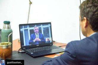 A la distancia, Alberto Fernández dejó inauguradas cloacas en El Brillante: el mensaje del intendente