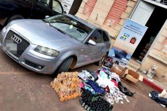 Cuatro argentinos fueron detenidos cuando intentaban contrabandear mercadería en Salto