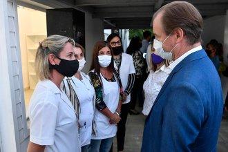 """Bordet en Villaguay: inauguró una """"unidad educativa"""", entregó 40 viviendas y elogió al presidente por la Ruta 18"""