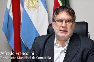 Sin medidas a nivel local, Francolini envió un mensaje a los concordienses por la segunda ola