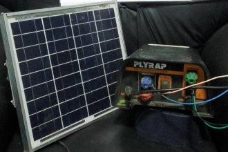 Se había llevado partes del sistema de energía solar de un campo vecino
