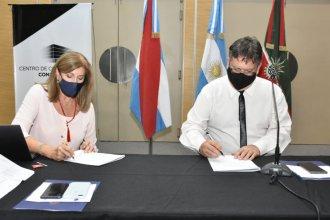Francolini y la ministra Romero firmaron un convenio para duplicar la capacidad de la Alcaidía de Concordia