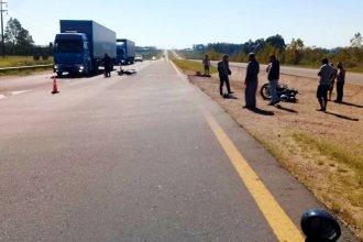 Violenta colisión de motos en la autovía 14: uno de los conductores sufrió heridas graves