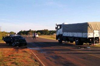 Intentó una frenada a 70 metros de distancia, pero no lo logró y terminó impactando contra un camión