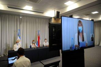 """Velazquez aseguró que la medida es """"transitoria"""": las clases presenciales volverán el 10 de mayo"""