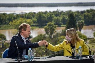 Frente al río, Bordet presentó un programa intergubernamental de cuidado del agua