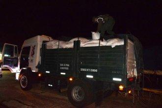 En la RN 14, Gendarmería secuestró 35 toneladas de soja y maíz
