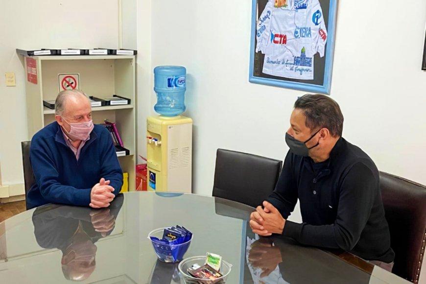 Yasky y el referente de CTA Entre Ríos.