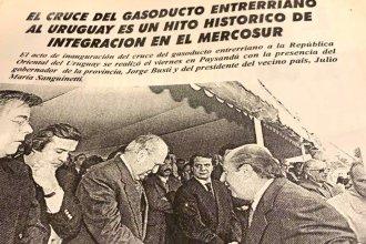 Un adiós a Jorge Larrañaga y el legado del cruce del gasoducto entrerriano a Uruguay