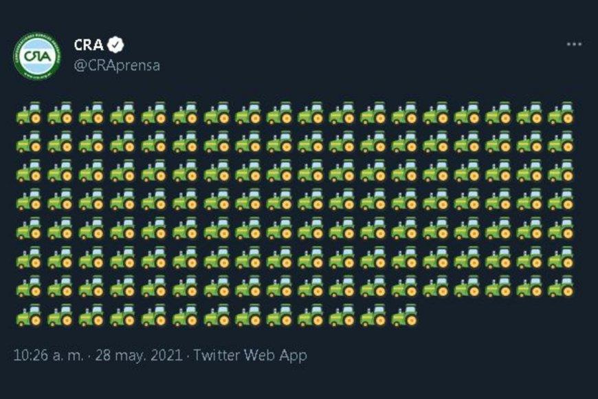 El tuit de la entidad que preside Chemes.