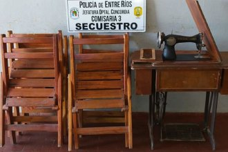 Recuperaron objetos robados de una capilla en Concordia