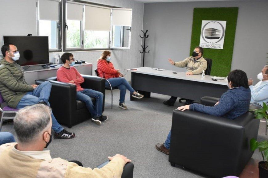 Francolini y el COES, en reunión